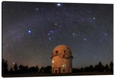 Winter Milky Way Above Yunnan Astronomical Observatory In China Canvas Art Print