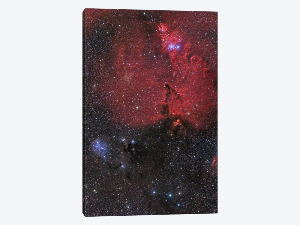 Beautiful Nebula In Monoceros Constellation by John Davis 1-piece Art Print