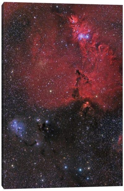 Beautiful Nebula In Monoceros Constellation Canvas Art Print