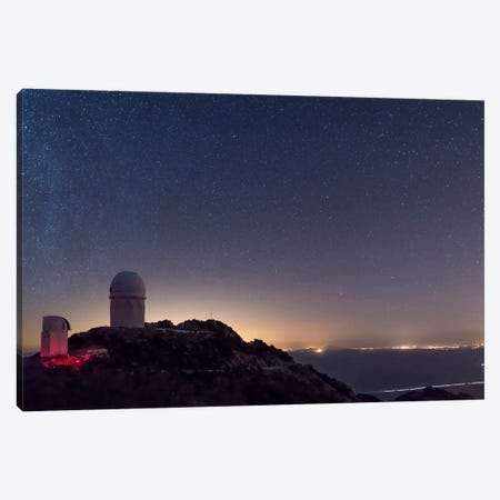 The Mayall Observatory At Kitt Peak On A Clear Starry Night Canvas Print #TRK1224} by John Davis Canvas Art Print