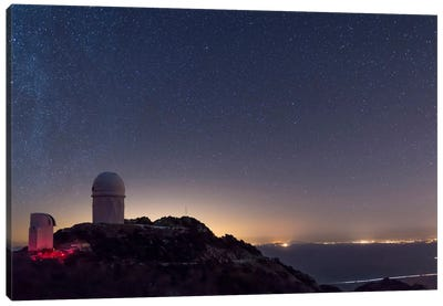 The Mayall Observatory At Kitt Peak On A Clear Starry Night Canvas Art Print