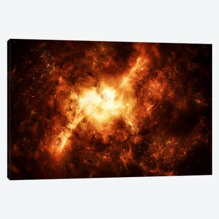 A Nebula Surrounded By Stars Canvas Print #TRK1231} by Justin Kelly Canvas Print