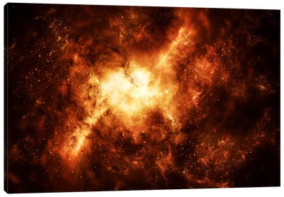 A Nebula Surrounded By Stars Canvas Art Print