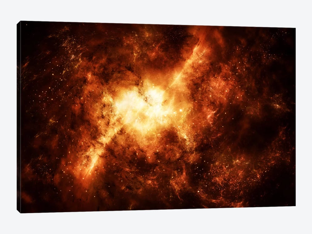 A Nebula Surrounded By Stars by Justin Kelly 1-piece Canvas Artwork