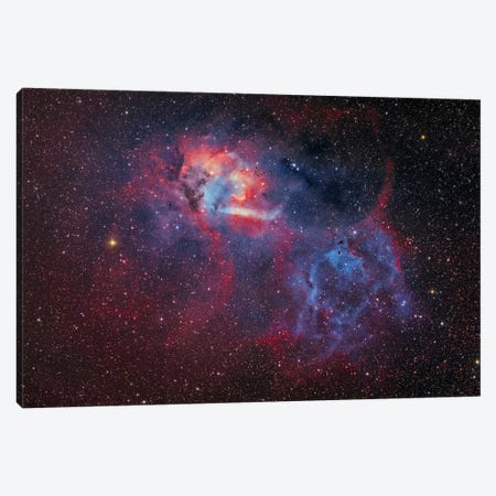Emission Nebula (Sharpless 2-132 ) At The Cepheus/Lacerta Border Canvas Print #TRK1234} by Lorand Fenyes Canvas Artwork