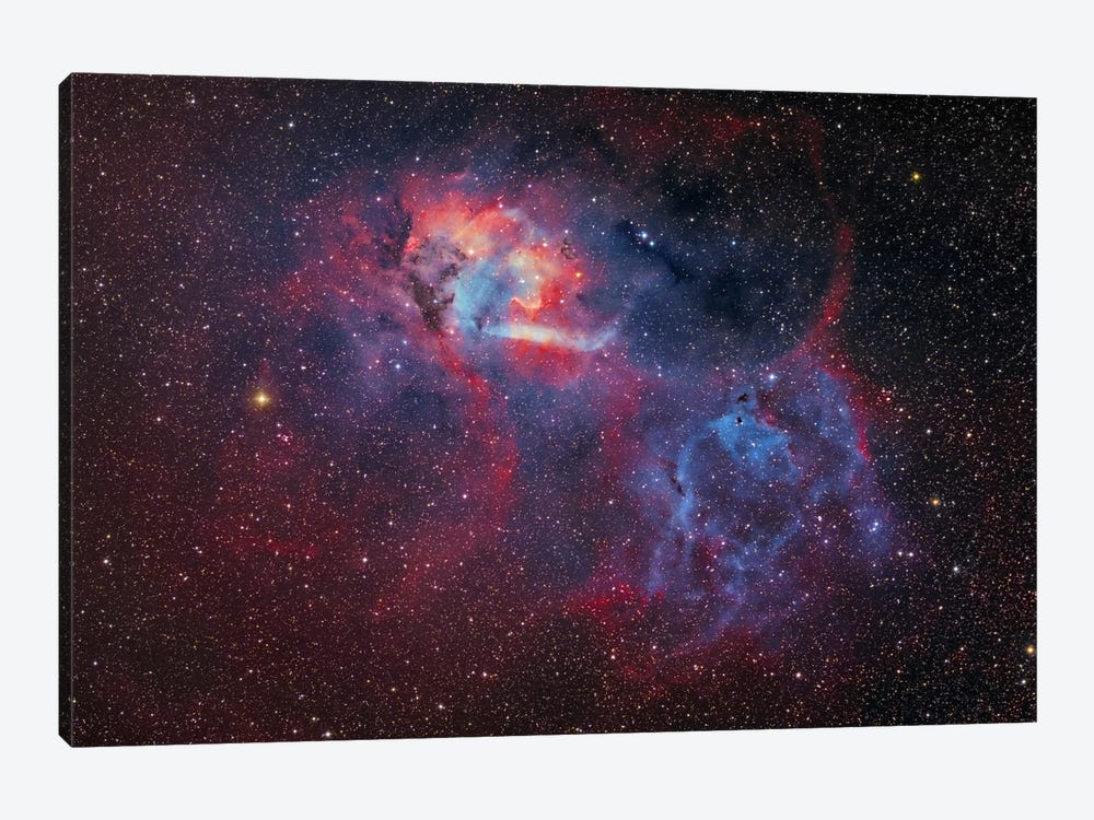 Emission Nebula (Sharpless 2-132 ) At The Cepheus/Lacerta Border by Lóránd Fényes 1-piece Canvas Print