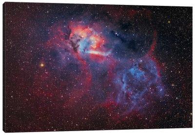 Emission Nebula (Sharpless 2-132 ) At The Cepheus/Lacerta Border Canvas Art Print