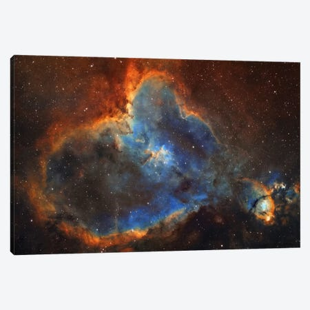 The Heart Nebula (IC 1805) In Cassiopeia Canvas Print #TRK1238} by Lorand Fenyes Art Print