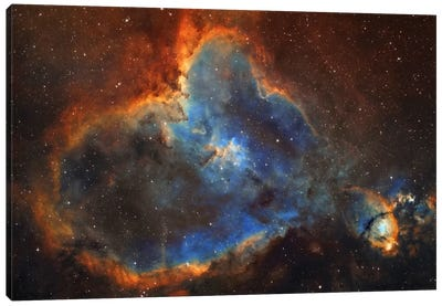The Heart Nebula (IC 1805) In Cassiopeia Canvas Art Print