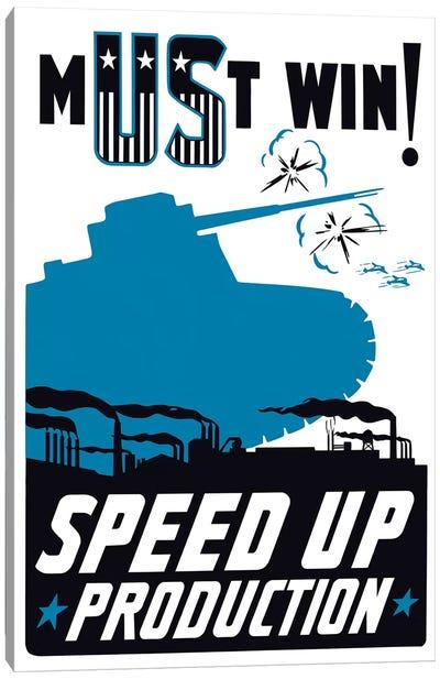 Vintage WWII Propaganda Poster II Canvas Art Print