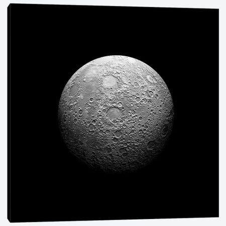 A Heavily Cratered Moon Canvas Print #TRK1241} by Marc Ward Canvas Artwork