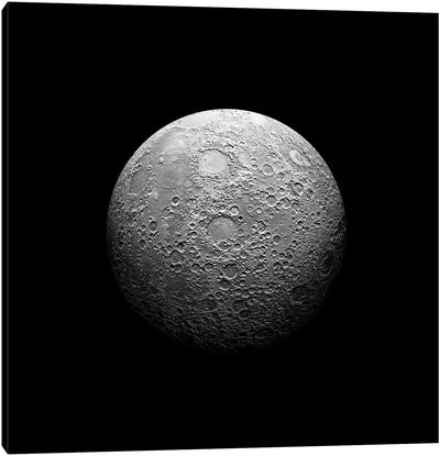 A Heavily Cratered Moon Canvas Art Print
