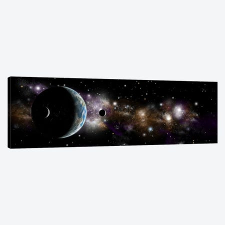 An Earth-Like Planet With A Pair Of Moons In Orbit I Canvas Print #TRK1245} by Marc Ward Art Print