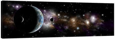 An Earth-Like Planet With A Pair Of Moons In Orbit I Canvas Art Print