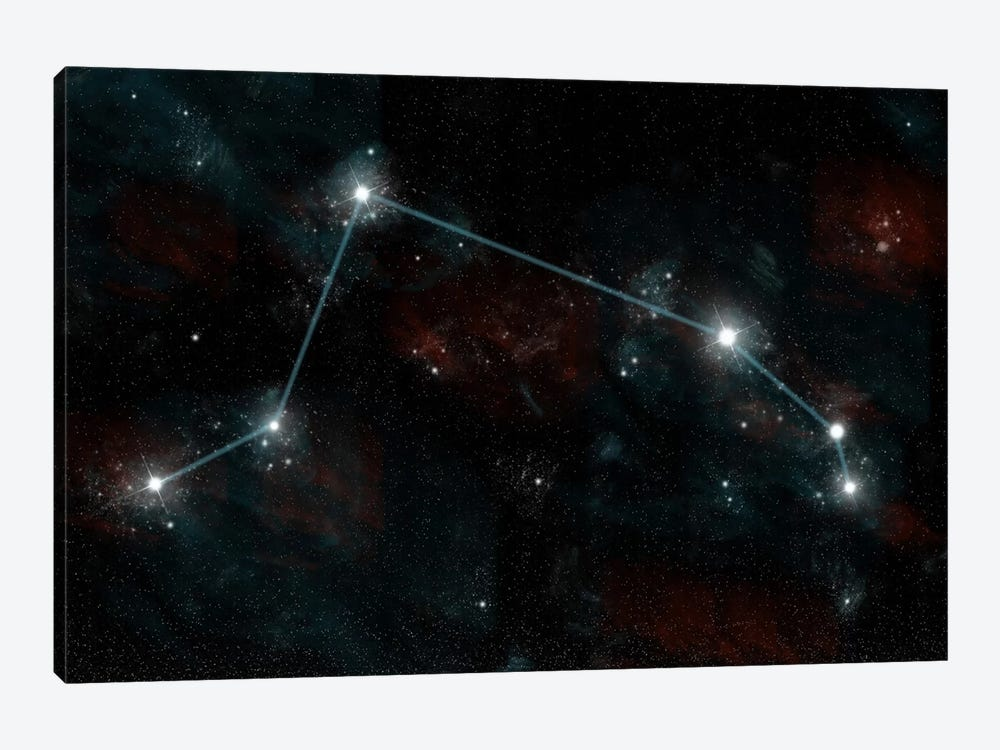 The Constellation Aries The Ram by Marc Ward 1-piece Canvas Wall Art