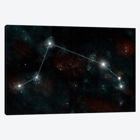 The Constellation Aries The Ram Canvas Print #TRK1248} by Marc Ward Canvas Artwork