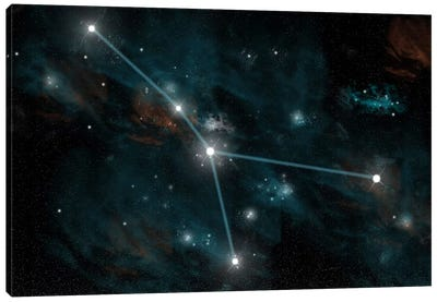 The Constellation Cancer Canvas Art Print