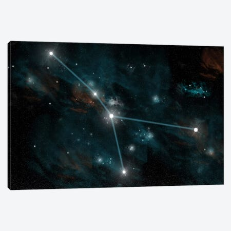 The Constellation Cancer Canvas Print #TRK1249} by Marc Ward Canvas Artwork