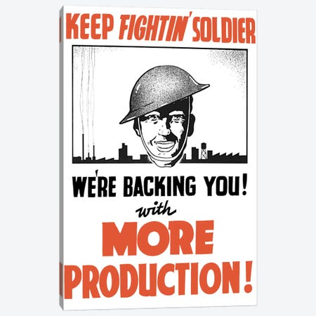 Vintage WWII Propaganda Poster III Canvas Print #TRK124} by John Parrot Art Print