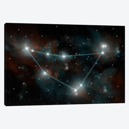The Constellation Capricorn The Sea Goat Canvas Print #TRK1250} by Marc Ward Canvas Art Print