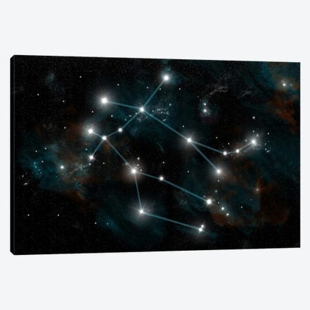 The Constellation Gemini The Twins Canvas Print #TRK1251} by Marc Ward Canvas Art Print