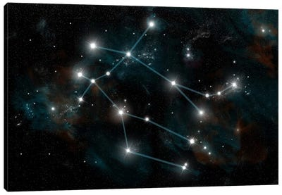 The Constellation Gemini The Twins Canvas Art Print