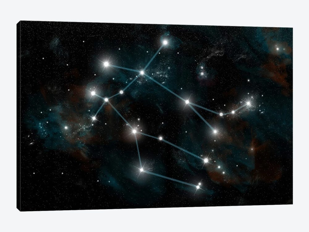 The Constellation Gemini The Twins by Marc Ward 1-piece Canvas Artwork