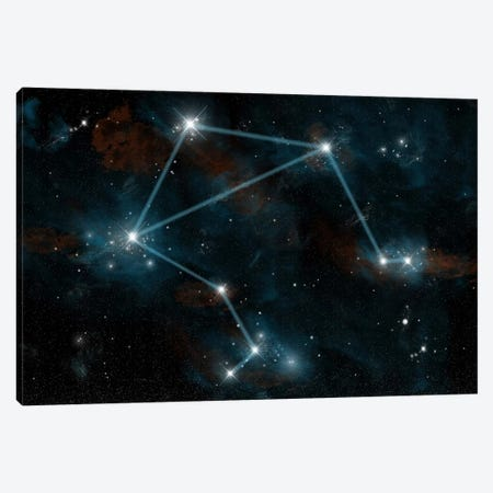 The Constellation Libra The Scales Canvas Print #TRK1253} by Marc Ward Art Print