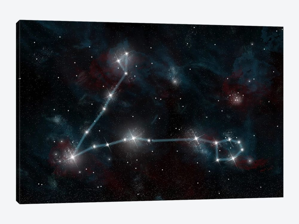 The Constellation Pisces The Fish by Marc Ward 1-piece Canvas Print