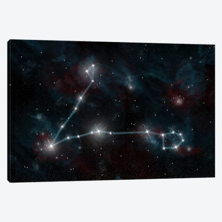The Constellation Pisces The Fish Canvas Print #TRK1254} by Marc Ward Canvas Art