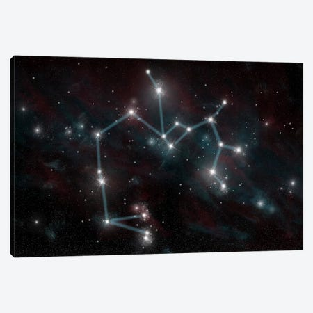 The Constellation Sagittarius The Archer Canvas Print #TRK1255} by Marc Ward Canvas Wall Art