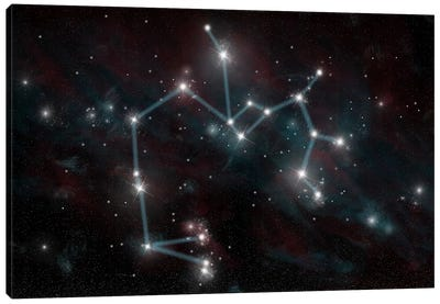 The Constellation Sagittarius The Archer Canvas Art Print