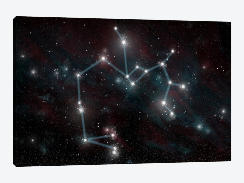 The Constellation Sagittarius The Archer by Marc Ward 1-piece Canvas Wall Art