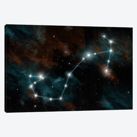 The Constellation Scorpio The Scorpion Canvas Print #TRK1256} by Marc Ward Canvas Art