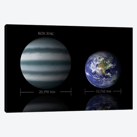 The Size Relationship Between Earth And KOI-314c Canvas Print #TRK1262} by Marc Ward Canvas Art