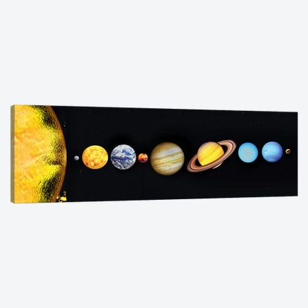 The Sun And Planets Of Our Solar System Canvas Print #TRK1266} by Mark Stevenson Canvas Print