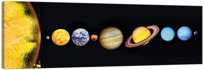 The Sun And Planets Of Our Solar System Canvas Art Print