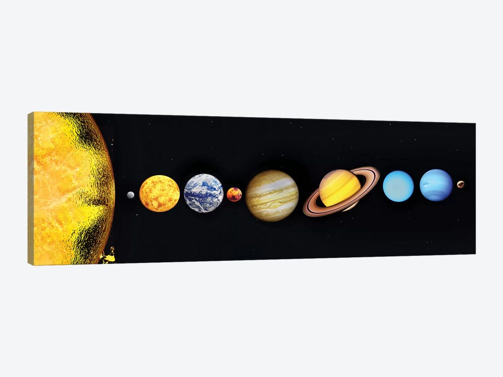The Sun And Planets Of Our Solar System by Mark Stevenson 1-piece Canvas Artwork