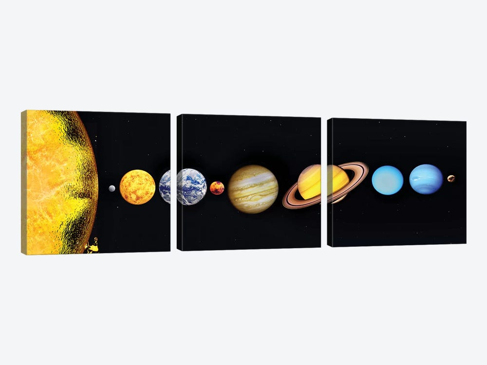 The Sun And Planets Of Our Solar System by Mark Stevenson 3-piece Canvas Art