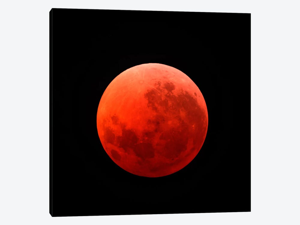 Lunar Eclipse Taken On April 15, 2014 by Michael Miller 1-piece Canvas Art Print