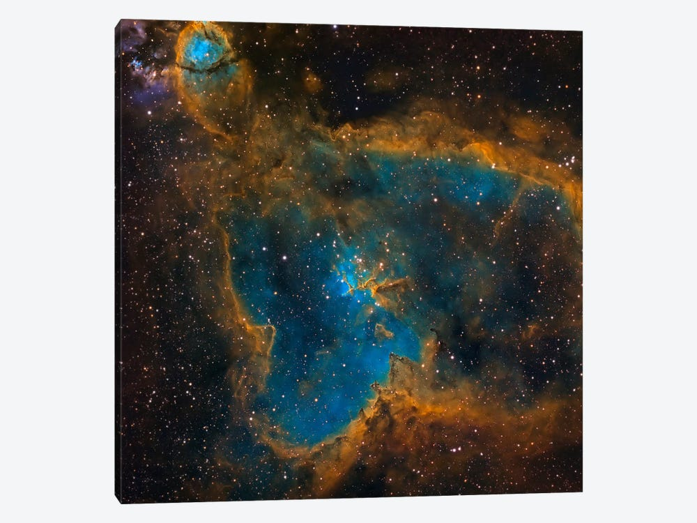 The Heart Nebula (IC 1805) by Michael Miller 1-piece Canvas Print