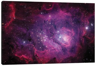 The Lagoon Nebula (M8) Canvas Art Print