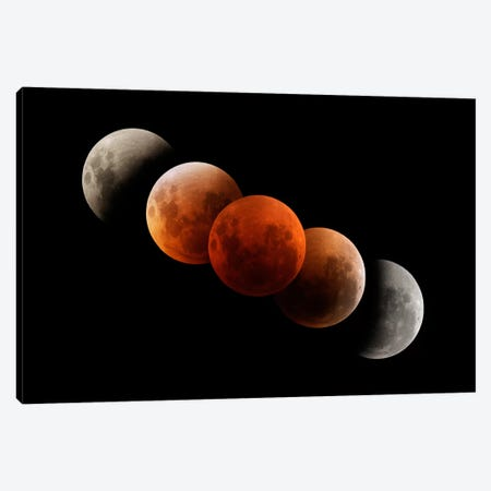 Composite Image Of Lunar Eclipse I Canvas Print #TRK1278} by Philip Hart Canvas Print