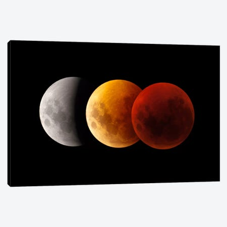 Composite Image Of Lunar Eclipse II Canvas Print #TRK1279} by Philip Hart Canvas Art Print