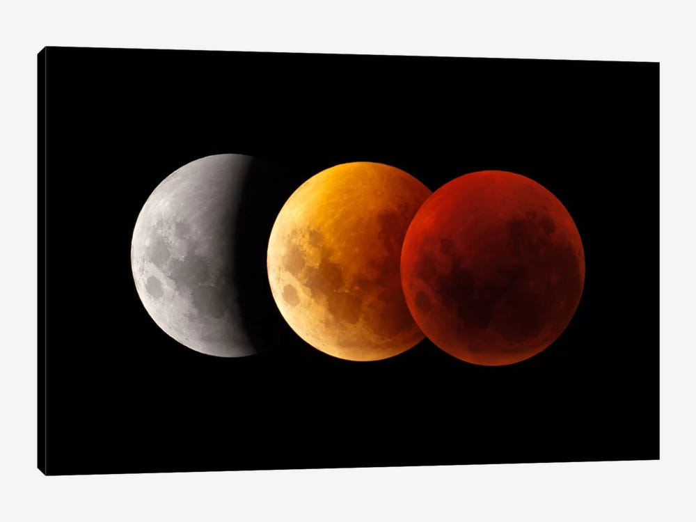 Composite Image Of Lunar Eclipse II by Philip Hart 1-piece Canvas Artwork