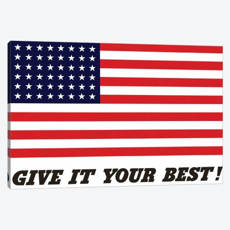 War Propaganda Poster Featuring The American Flag Canvas Print #TRK127} by John Parrot Canvas Print