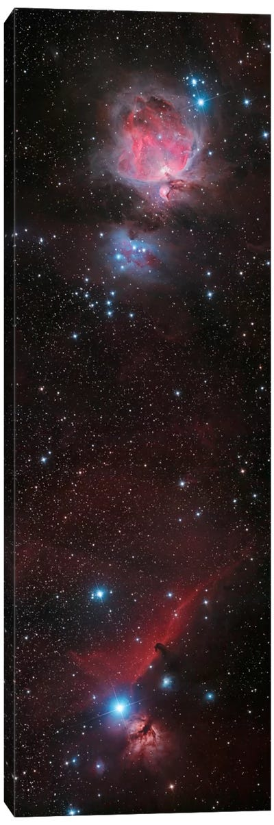 Mosaic Of Orion Nebula And Horsehead Nebula Canvas Art Print