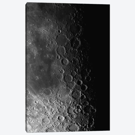 Rupes Recta Ridge And Craters Pitatus And Tycho Canvas Print #TRK1284} by Phillip Jones Art Print