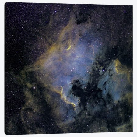 The North America Nebula And The Pelican Nebula In The Constellation Cygnus Canvas Print #TRK1285} by Phillip Jones Canvas Print