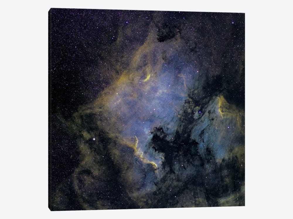 The North America Nebula And The Pelican Nebula In The Constellation Cygnus by Phillip Jones 1-piece Art Print